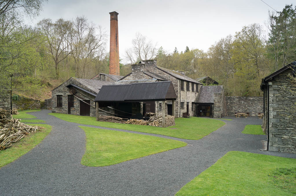 The exterior of Stott Park Bobbin Mill