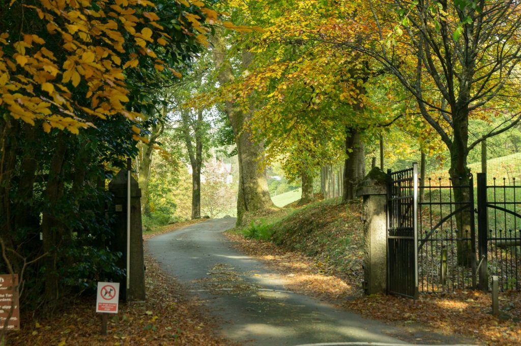 The entrance to Holehird near Windermere