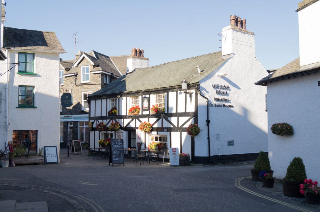 Pubs and outdoor eating in Hawkshead