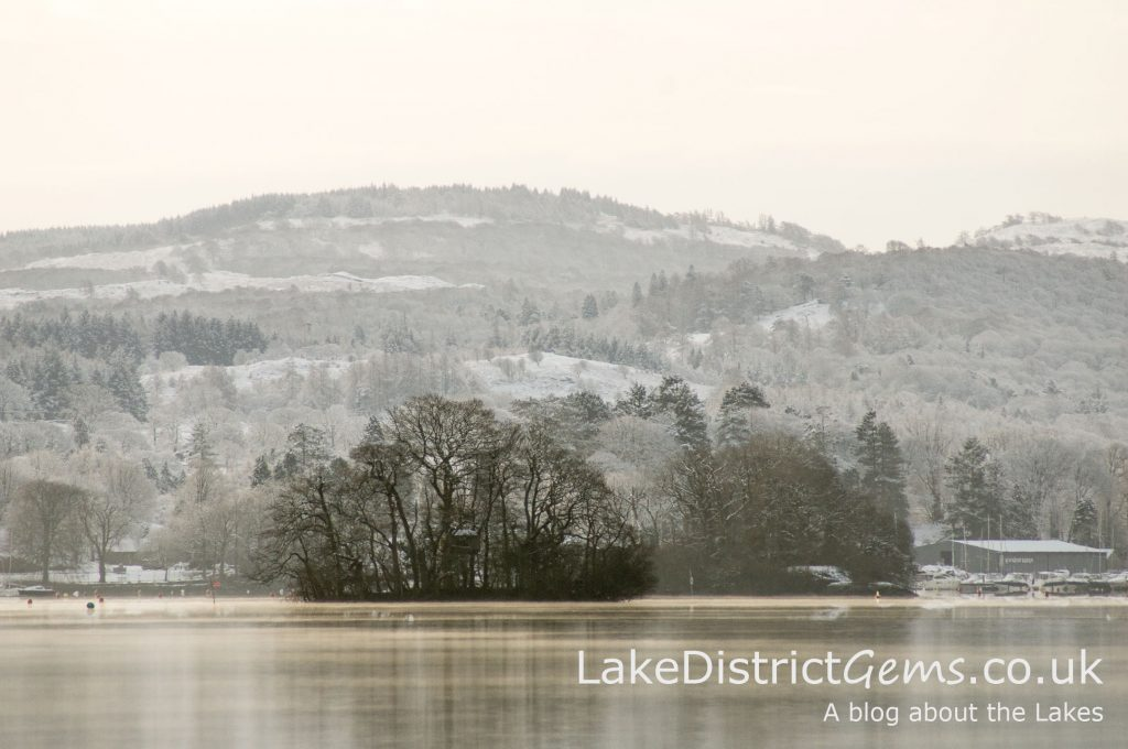 Windermere in snow