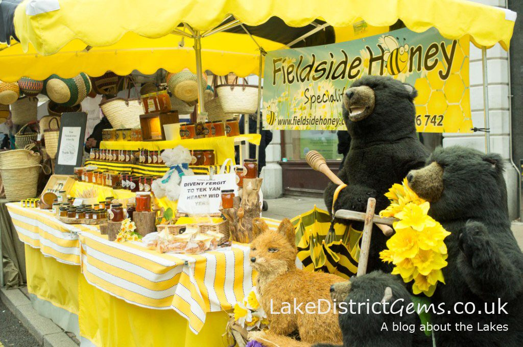 The Fieldside Honey stand at the 2015 Kendal Festival of Food