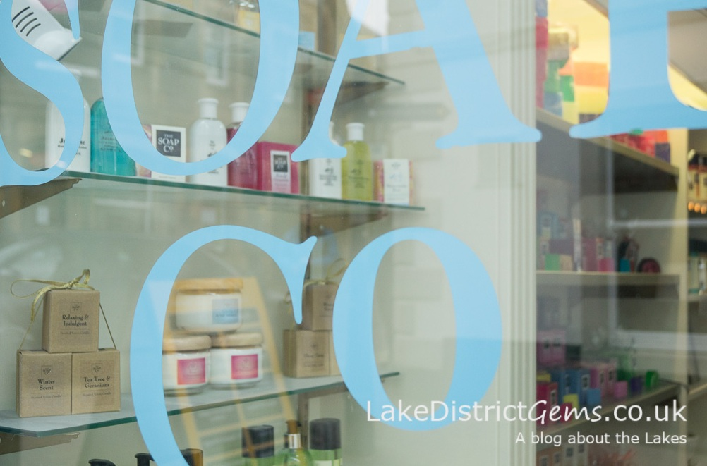 The Soap Co window and display
