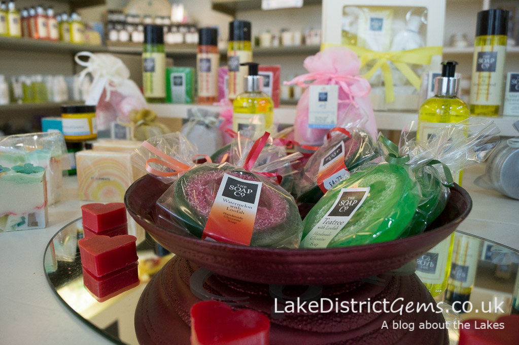Some of the beautiful products on display at The Soap Co's Keswick shop