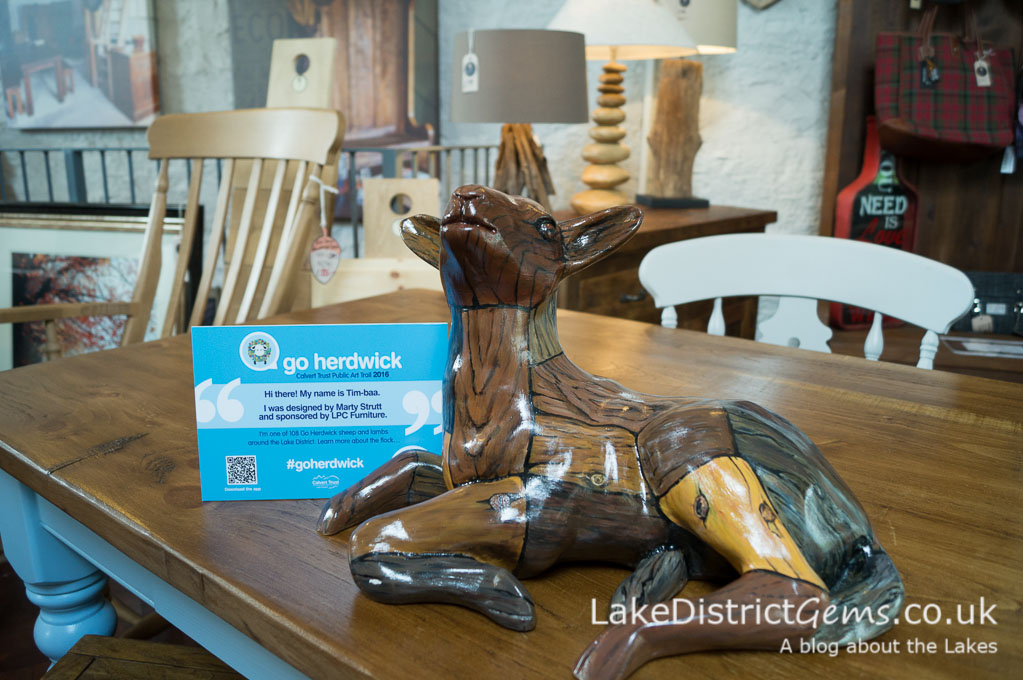 Go Herdwick lamb at LPC Furniture, Windermere