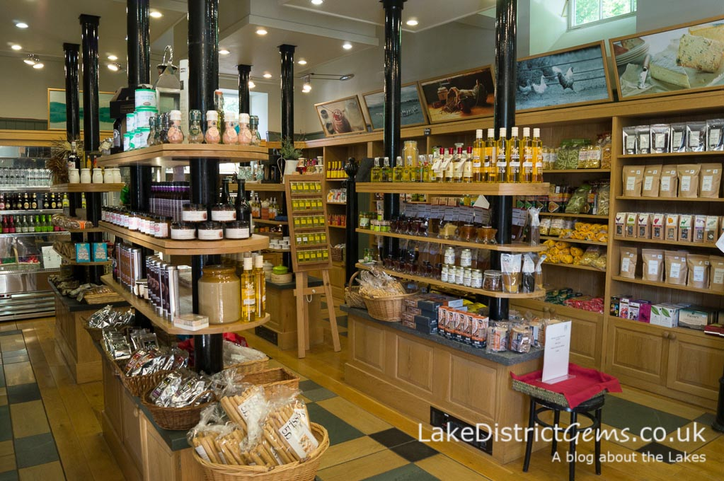 Inside the Food Hall at Holker Hall