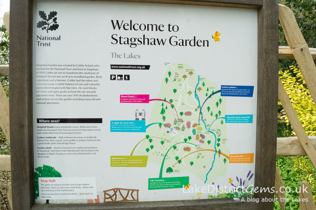 Stagshaw Gardens notice and plan