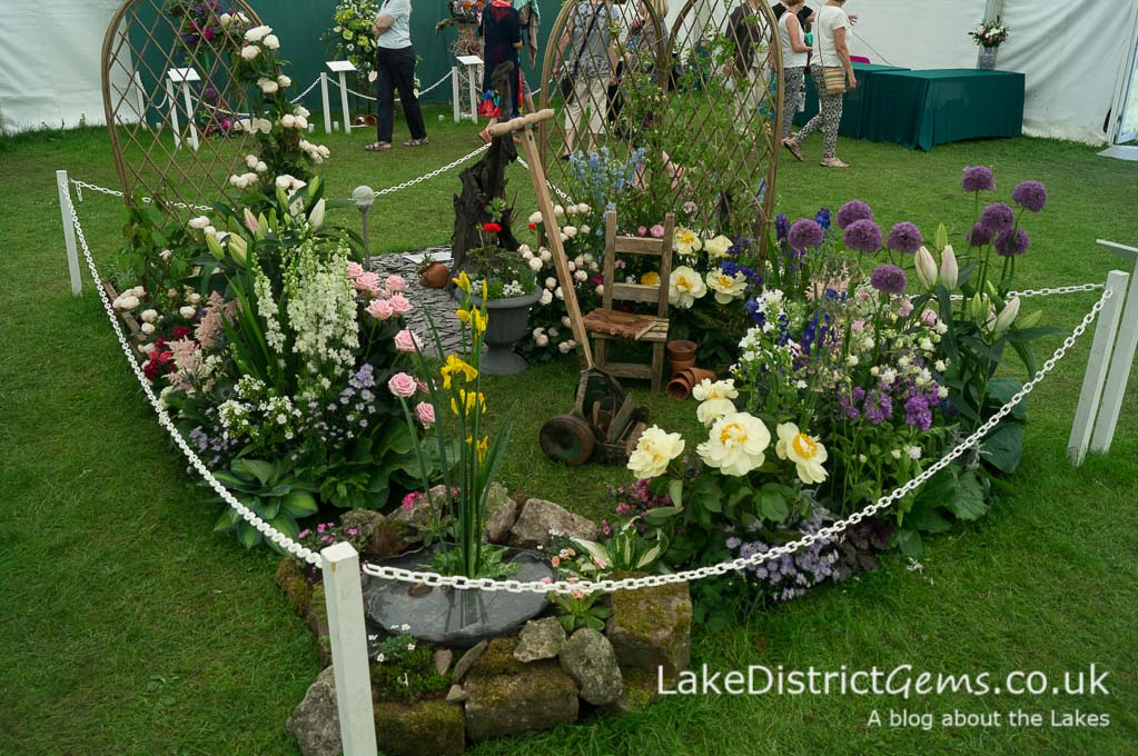 The floral displays at the Holker Garden Festival 2016