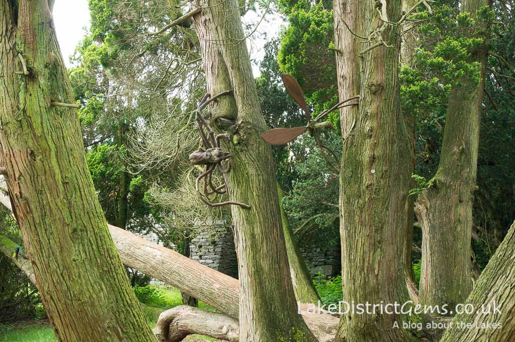 Outdoor sculptures at Rydal Hall
