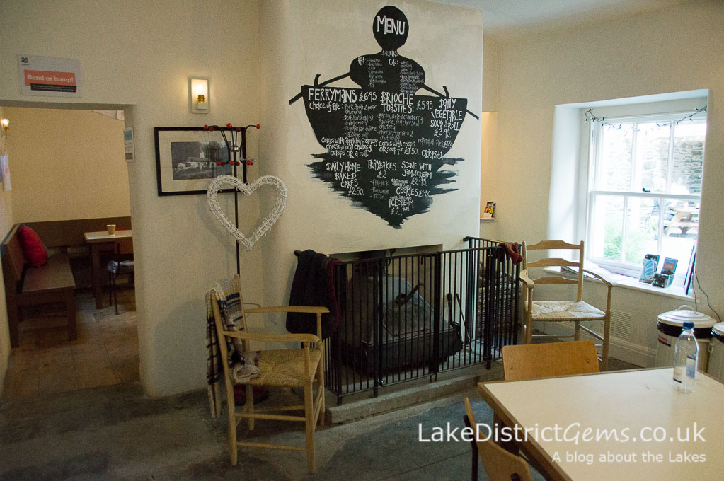 Inside the Café in the Courtyard at Claife Viewing Station