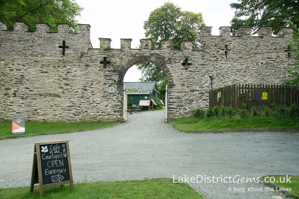 The entrance to the courtyard below Claife Viewing Station