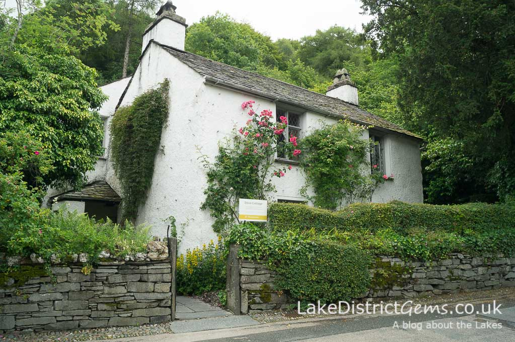 The exterior of Dove Cottage, Grasmere