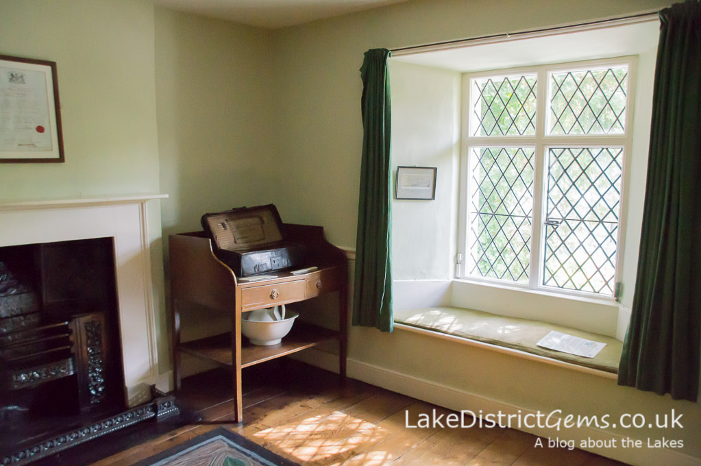 The bedroom at Dove Cottage, Grasmere