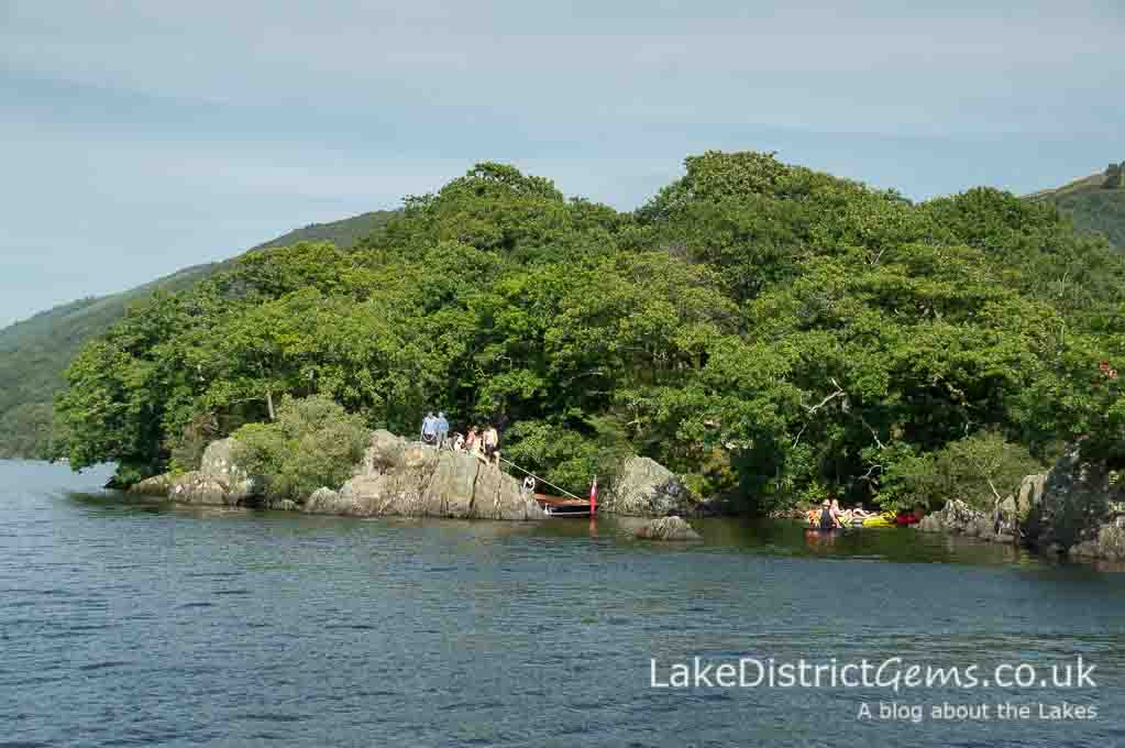 The 'secret harbour' on Peel Island, featured in Arthur Ransome's Swallows and Amazons