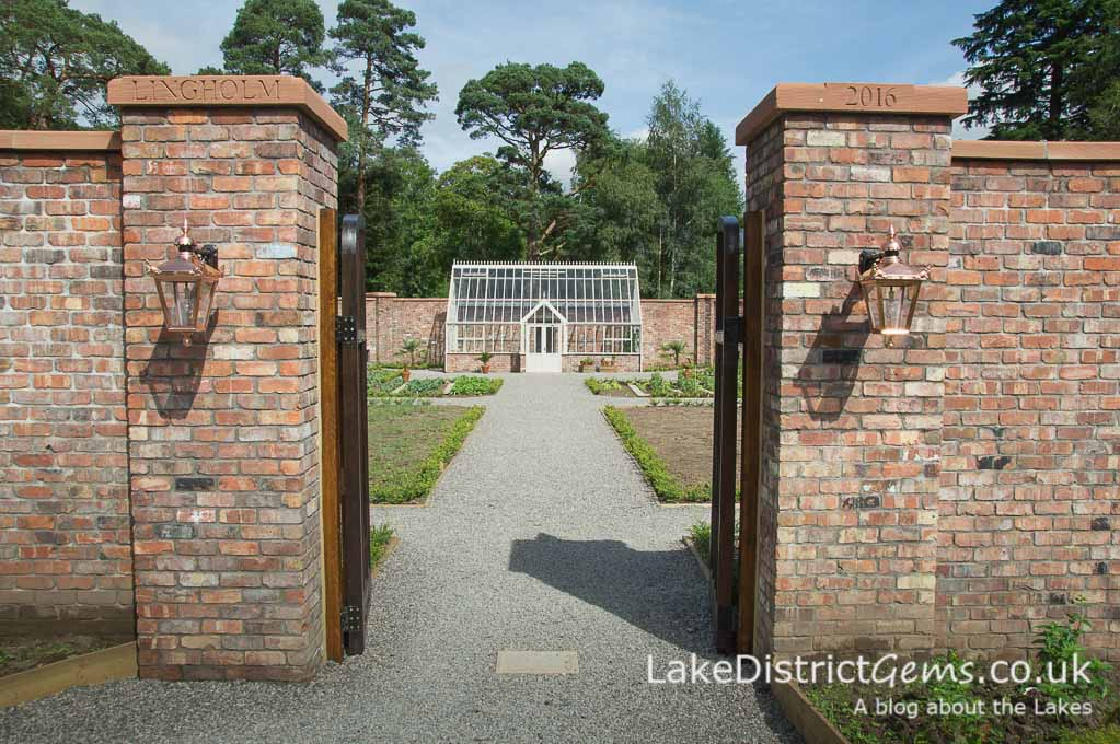The entrance to the Walled Garden at Lingholm