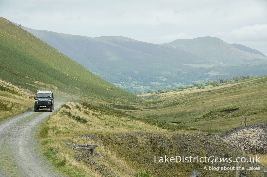 The view from the head of the Coledale valley looking back down towards Braithwaite