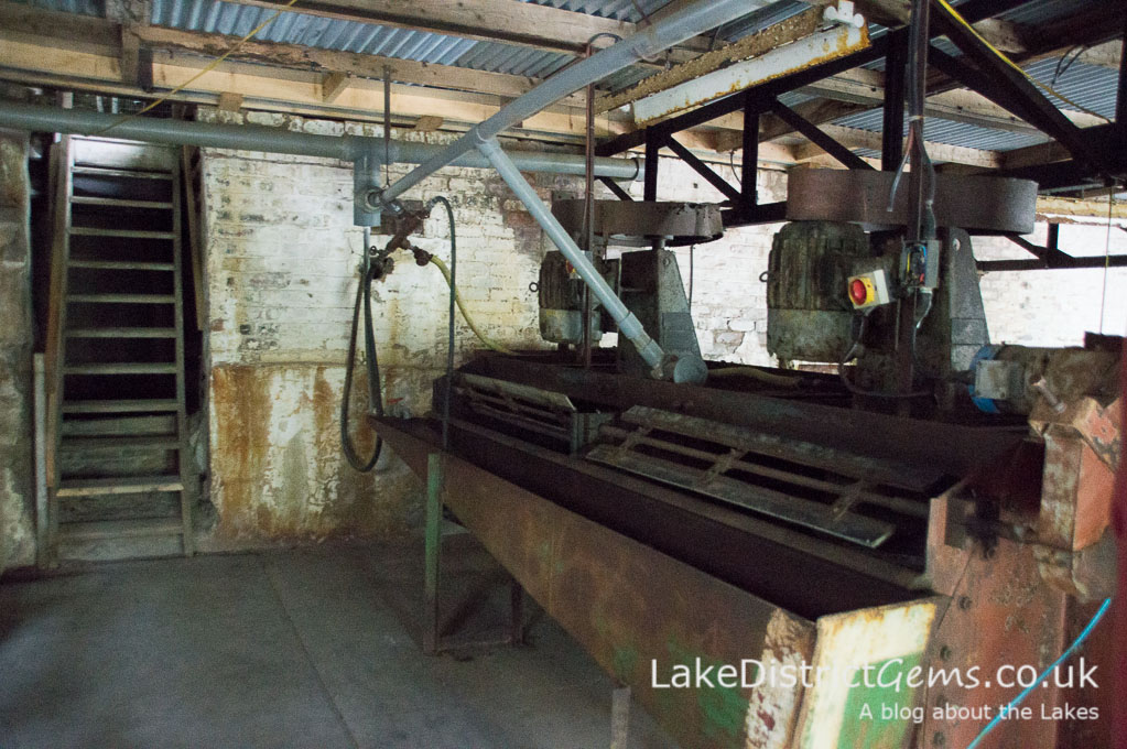 Inside the processing mill at Force Crag Mine