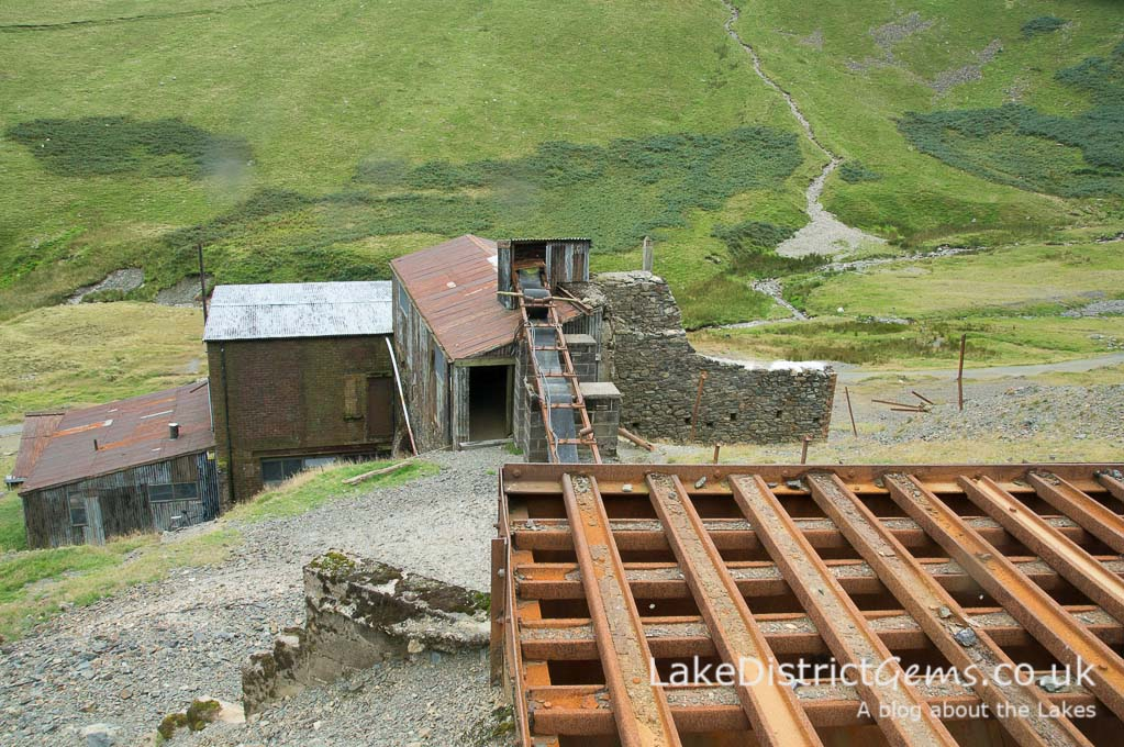 Above the 'Grizzly Hopper' at Force Crag Mine