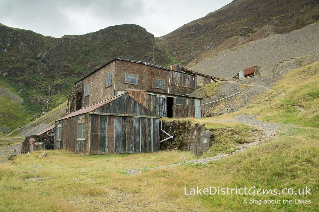 The processing mill at Force Crag Mine in the Coledale valley