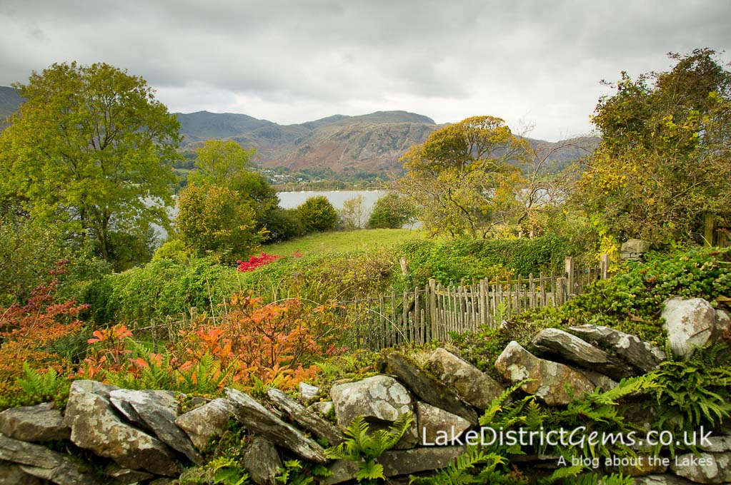 Overlooking the Lower Gardens at Brantwood