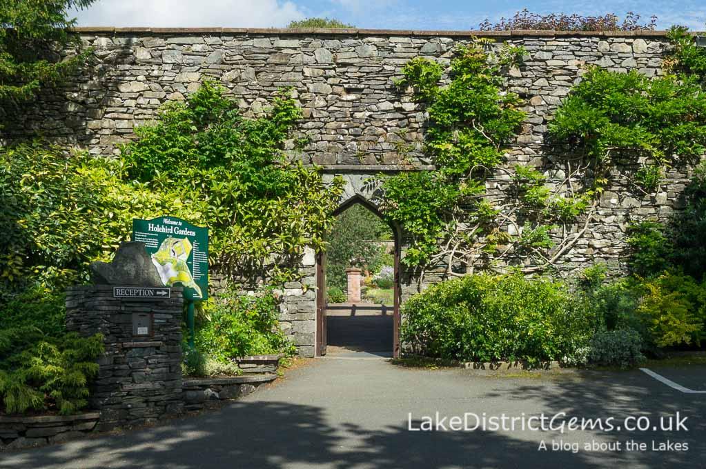 The entrance to Holehird Gardens