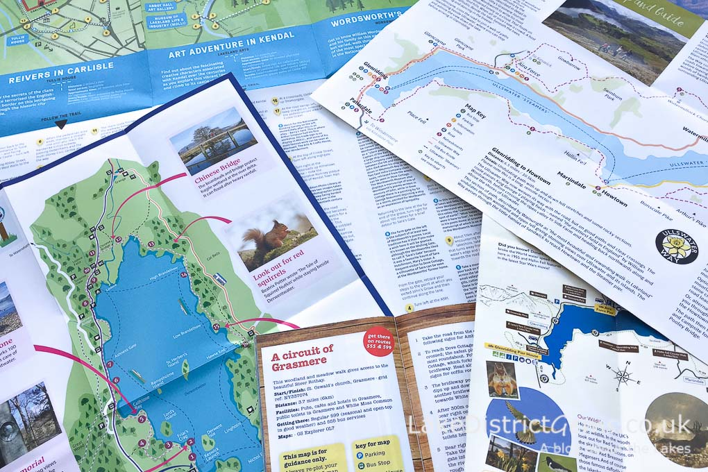 Lake District leaflets containing walking suggestions