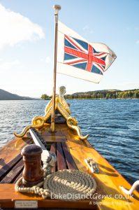 Sidney the sea serpent on board the Steam Yacht Gondola