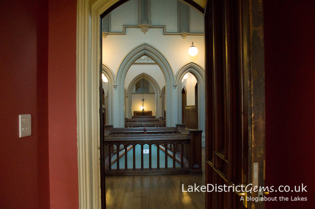 The Central Hall from the Billiard Room at Wray Castle