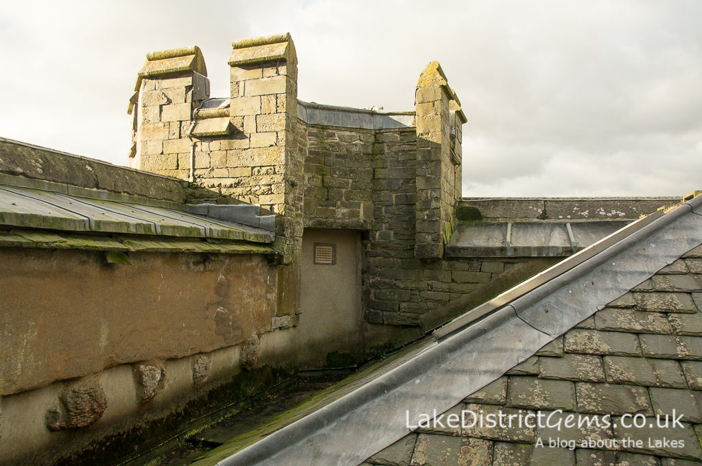 The rooftop at Wray Castle