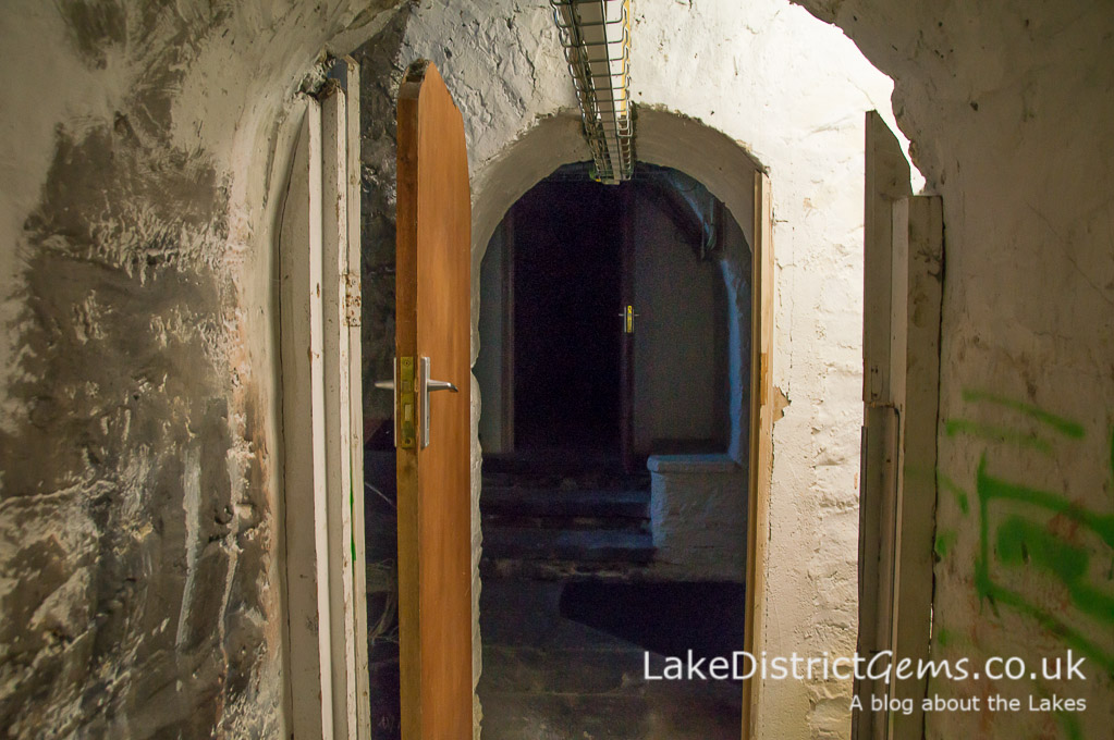 The cellars on a hard hat tour at Wray Castle