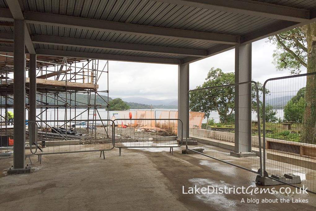 The view towards Ambleside from the Windermere Jetty construction site