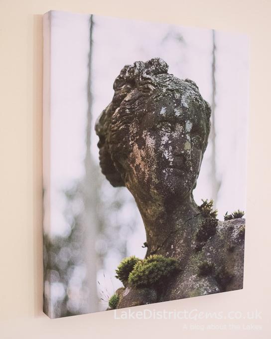 Statue image on display