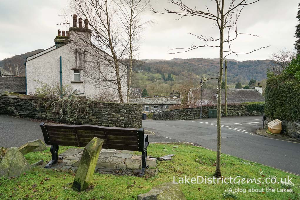 Benches overlooking Kirkstone Road, Ambleside
