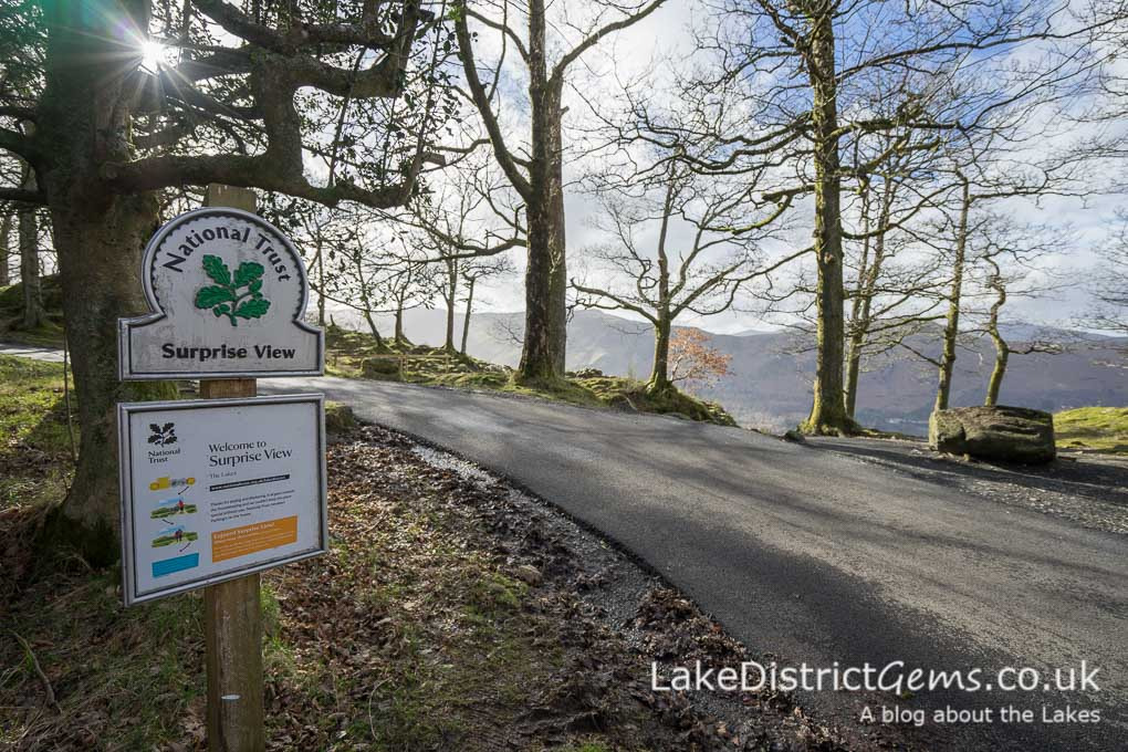 The National Trust's Surprise View sign post