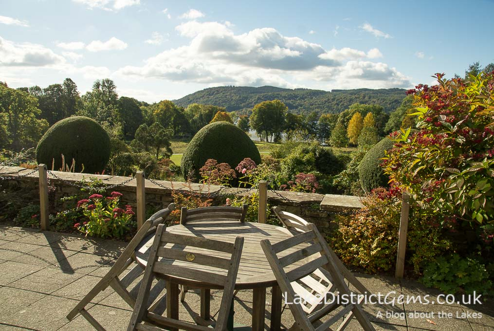 The terrace outside the café at Brockhole on Windermere
