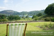 Overlooking Grasmere lake from the lawn at Allan Bank