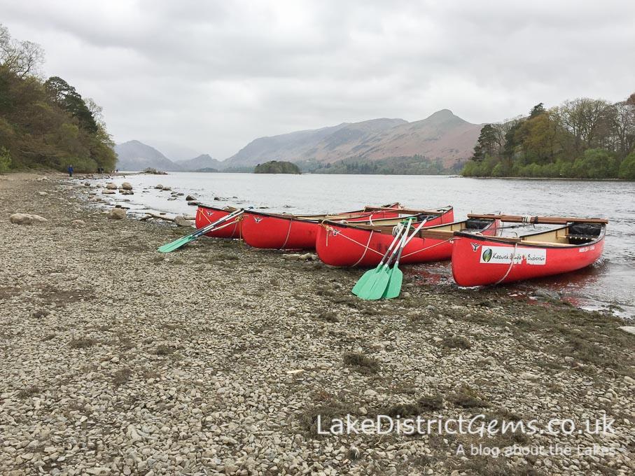 Canoes on Derwentwater