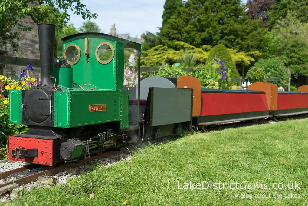 Papillon, one of the trains on show at the Millerbeck Light Railway
