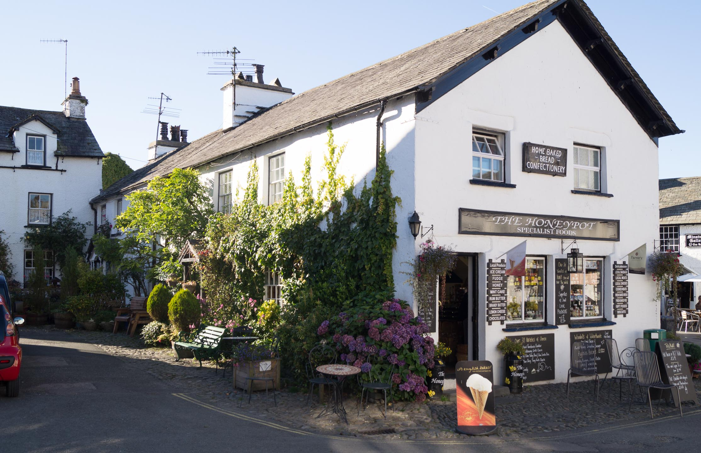 The village of Hawkshead