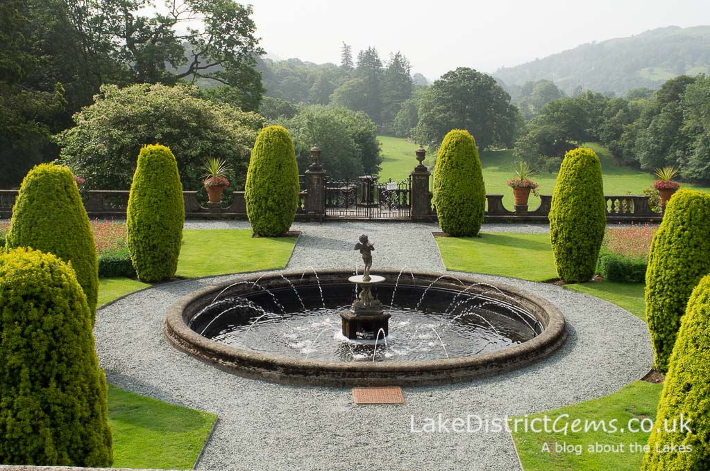 Mawson's formal garden at Rydal Hall