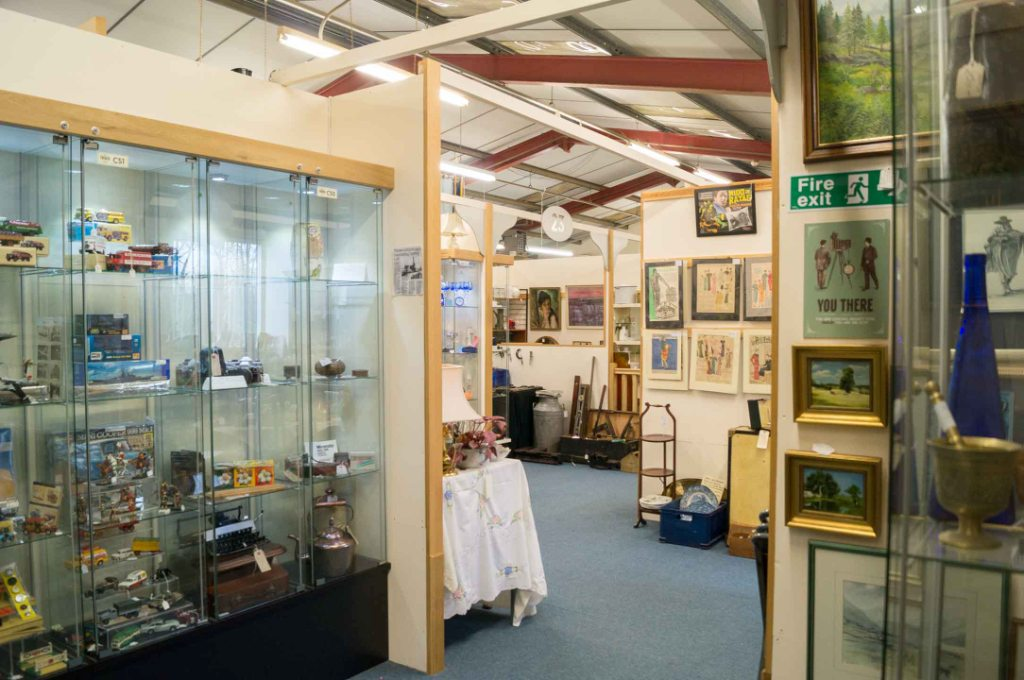 Inside Butterfield and French, The Antiques Emporium, in Kendal