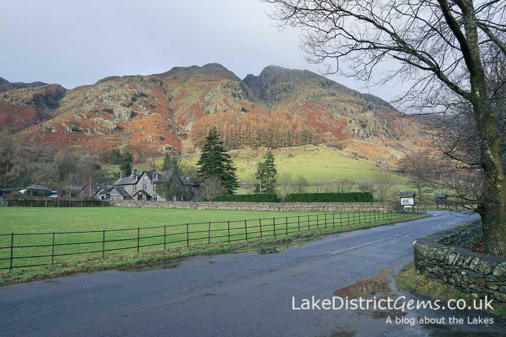 Beautiful colours in the Langdale valley from the New Dungeon Ghyll car park