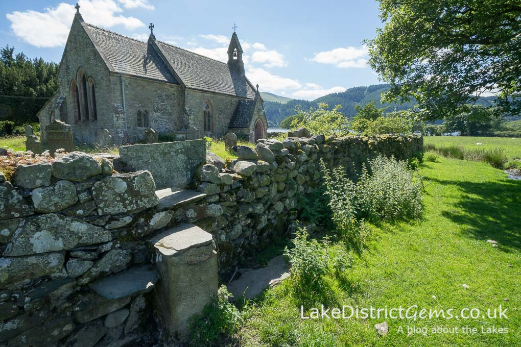 St Bega's Church on the side of Bassenthwaite