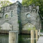The Double Boathouse at Wray Castle from the jetty