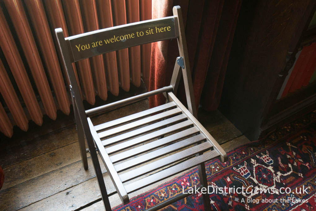 Chair with the caption 'You are welcome to sit here'