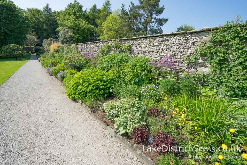 A garden border at Sizergh Castle