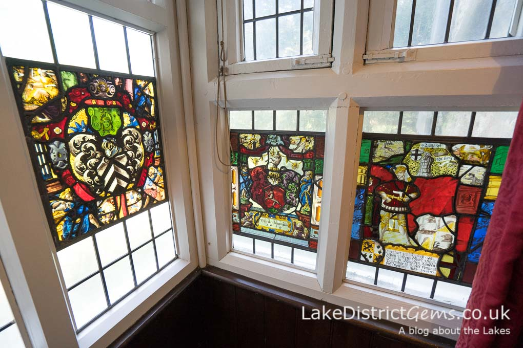 Stained glass at Sizergh Castle