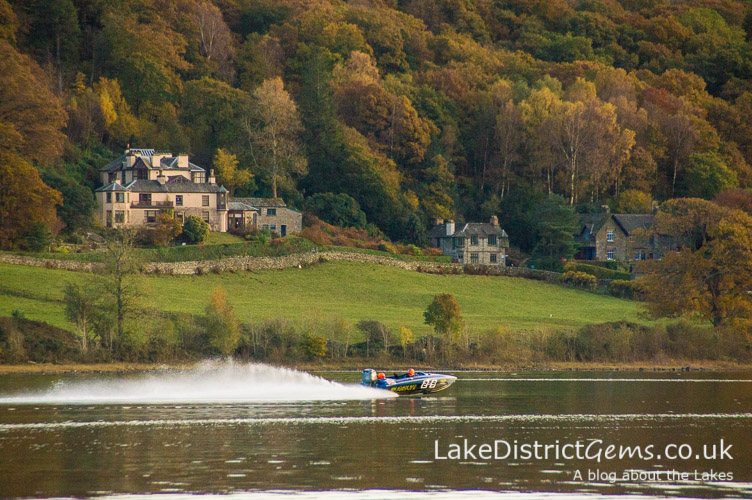Coniston Power Boat Records Week below Brantwood