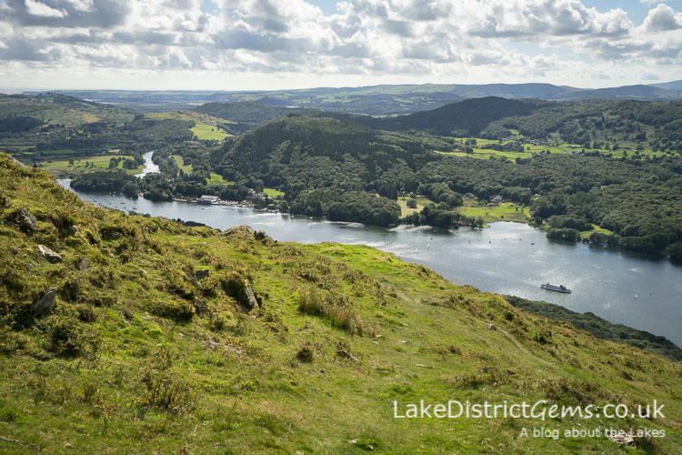 The south of Windermere from Gummer's How