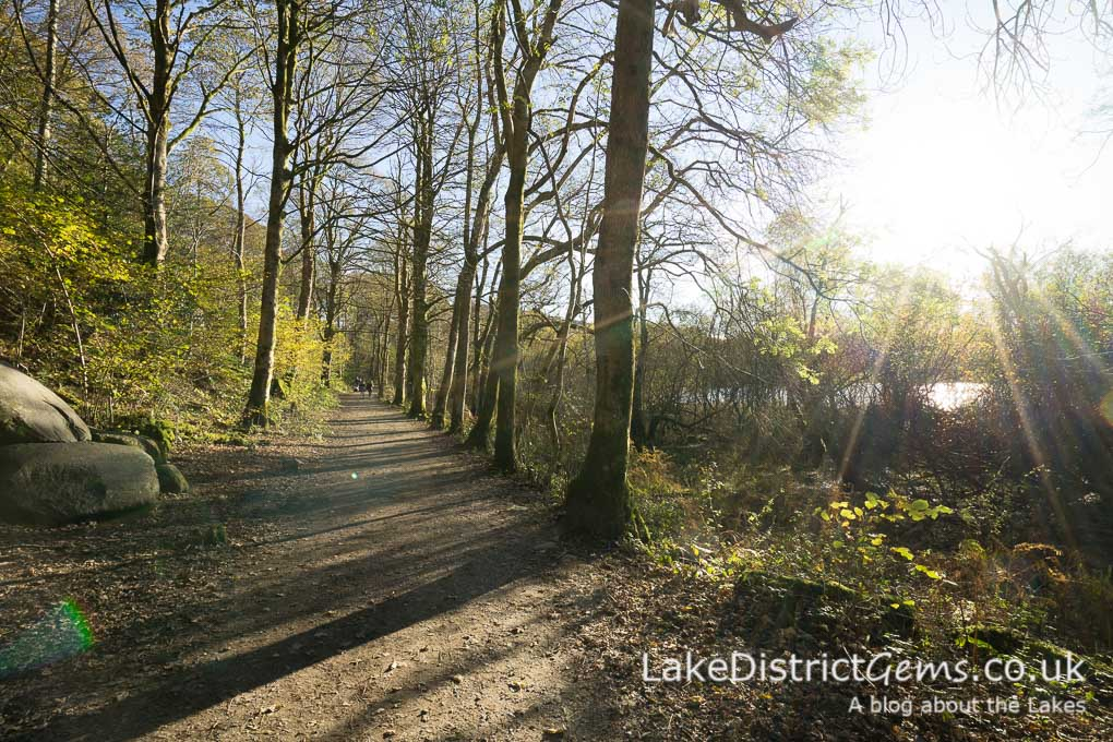 The walk also passes briefly through woodland