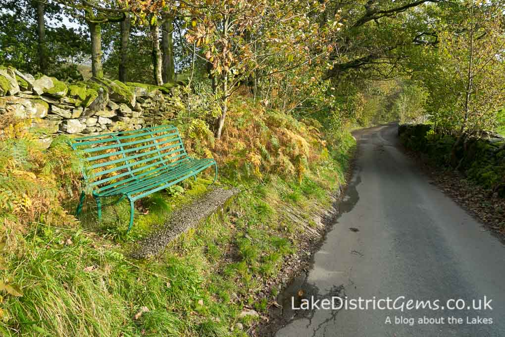 A bench by the roadside